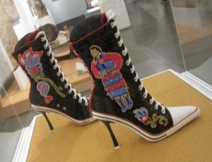 beaded sneakers