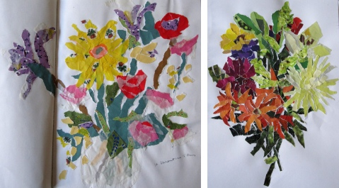 collage flowers o-n
