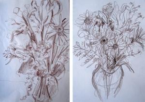 flower drawings o-n