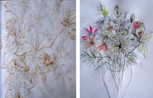 pen and ink flowers o-n
