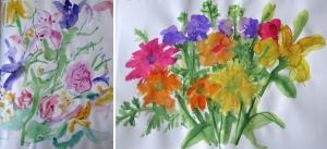 watercolor flowers o-n