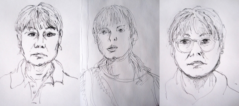 self portraits pen and ink