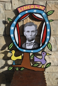 lincoln photo sculpture