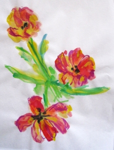 painted tulips s