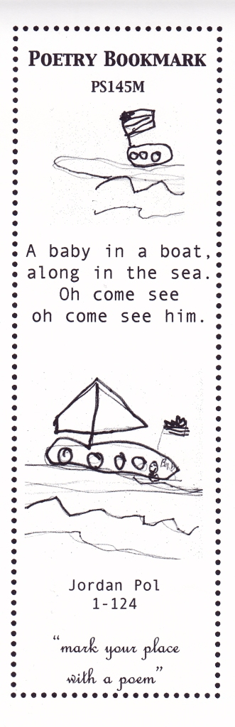 baby in a boat bookmark
