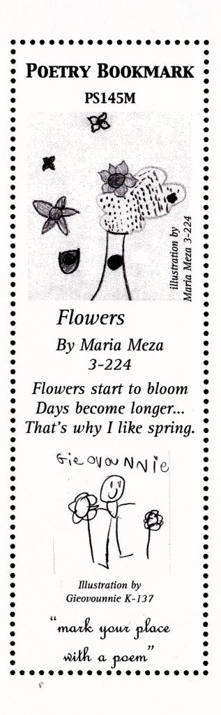 flowers bookmark s