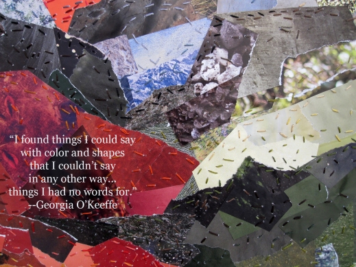 georgia stitched landscape quote a