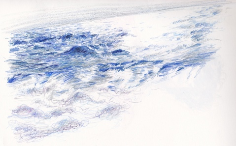 ocean pencil drawing s