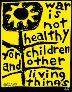 war is not healthy poster s