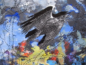 crow flying #4 close up s