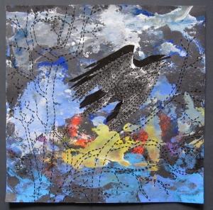 crow flying #4s