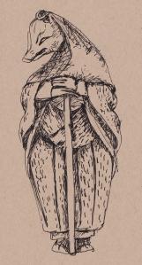 fox dressed as a nun s