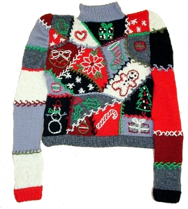 crazy quilt sweater