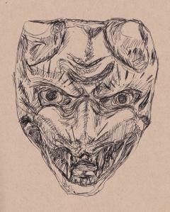 fox mask netsuke s