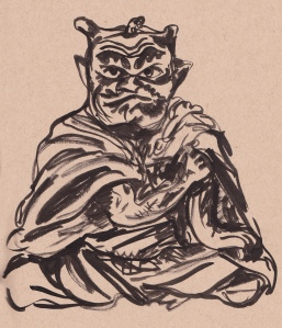 oni in monk's robe s