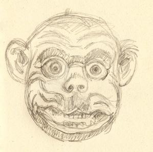 Bhutan monkey mask s