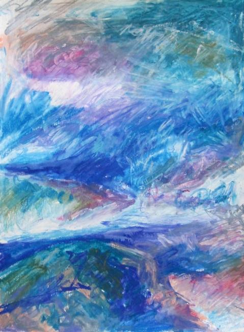 blue neocolor landscape s