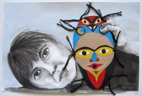 self portrait #12b mask 2s