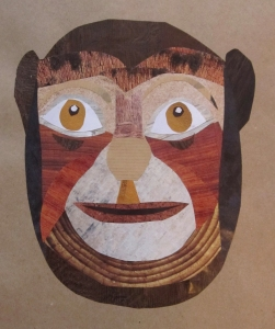 wooden monkey mask s