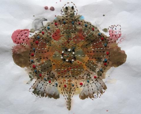 turtle rorschach stitched s