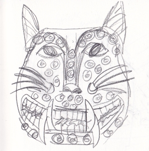 jaguar mask drawing s