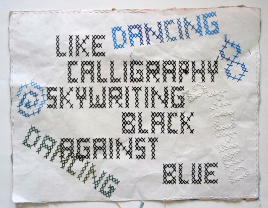calligraphy cross stitch s