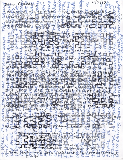 stitched words claudia s