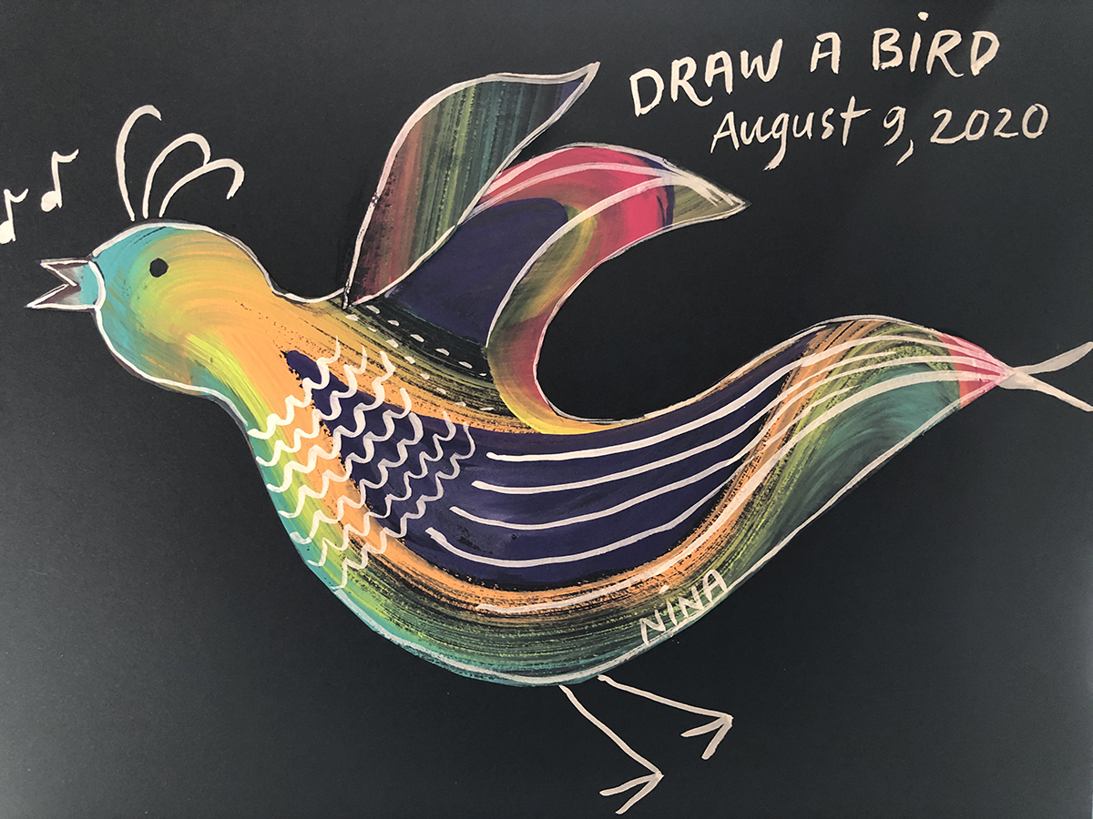 nina draw a bird aug 8